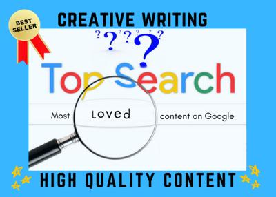 Write unique SEO articles, blog or web content