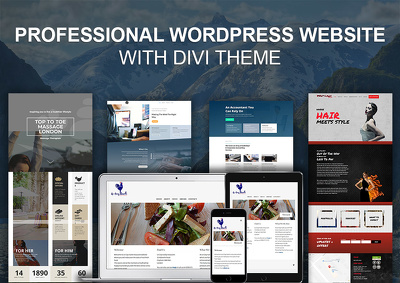 Build modern website with Divi Theme, Responsive & SEO friendly