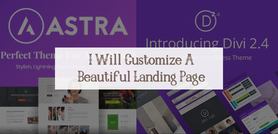Customize a beautiful landing page website