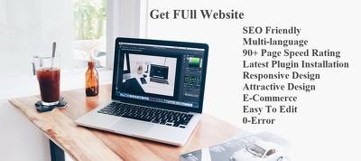 Design WordPress website Responsive SEO and Multi-language