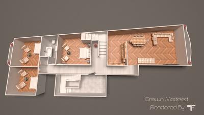 Convert cad plan to 3d floor plan