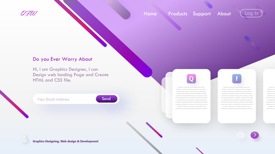 Design UI/UX of your website Page and landing page
