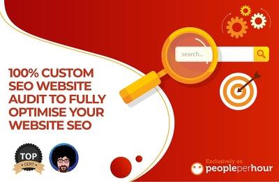 100% custom SEO Website Audit to fully optimise your website SEO