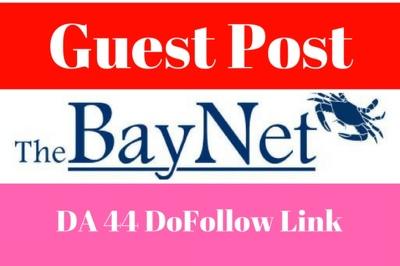 Publish a guest post on Thebaynet.com DA-59 Dofollow Backlink