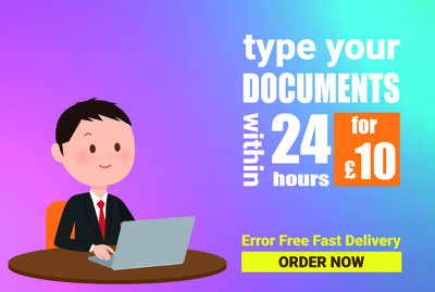 Type 15 pages within 24 hours, error free typing job