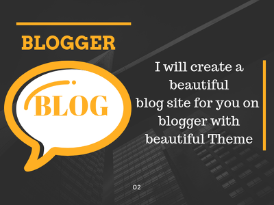 Create a beautiful blog site for you.