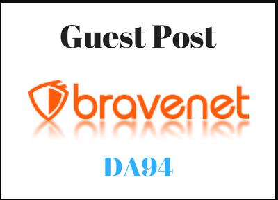 Publish a guest Post on Bravenet.com DA-91