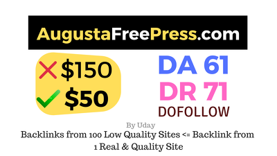 Publish a guest post on  Augustafreepress.com DA61, DR71