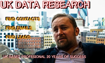 Data clean/scrape/research 200 contacts 4 leads & info