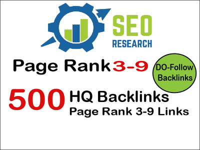 do 500 do-follow PR 3-9 backlinks