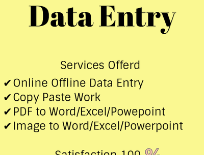 Do 5 hours of data entry work in 1 day