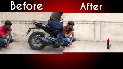 Do professional image retouching