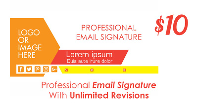 Professional Email Signature With Unlimited Revisions