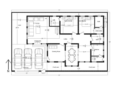 Create 2d CAD Drawing for Architectural projects