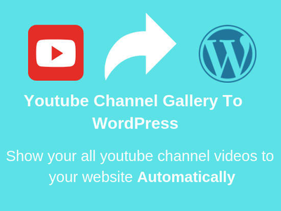 Display your youtube channel videos on website automatically