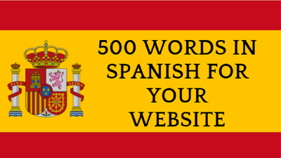 Write 500 words in spanish for your website