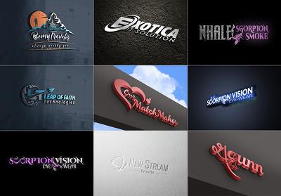 Get your professional logo With 3 unique Concepts