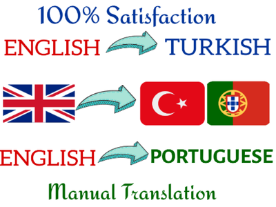 Translate English to Turkish and English to Portuguese