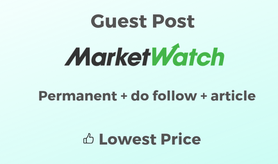 Financial Guest Post On Marketwatch.com with Article Writing