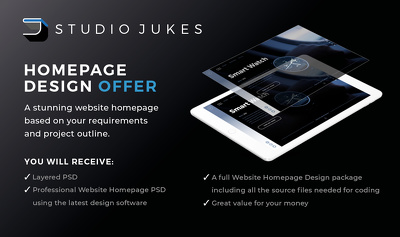 Design you a stunning landing/homepage for your website (PSD)