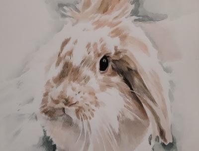 Paint a realistic animal portrait in watercolor technique
