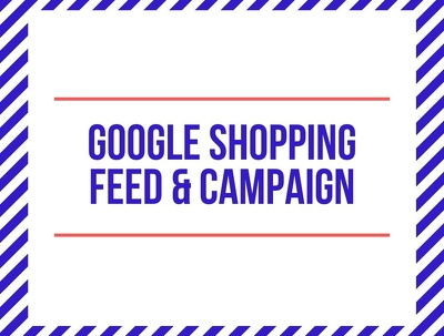 Create a full Google Shopping Feed & Shopping Campaigns