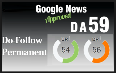 Guest post on my google news approved da 59 blog with dofollow