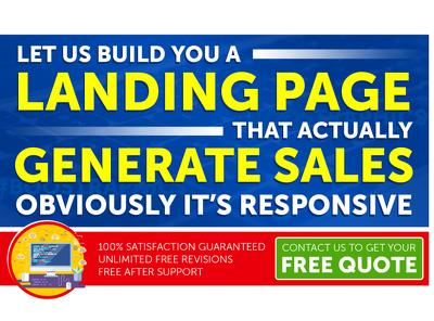 create Stunning Landing Page Design