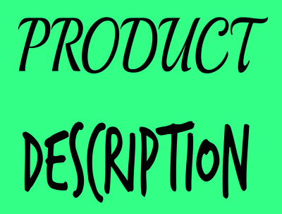 Write an engaging Product description
