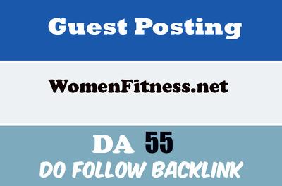 Publish a guest post on WomenFitness - Womenfitness.net DA 60