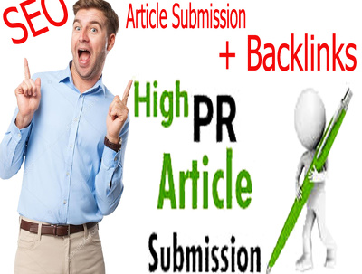 Submit Article in 40 High PR Article Submission site + backlinks