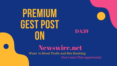 Publish a guest post on Newswire.net – DA59
