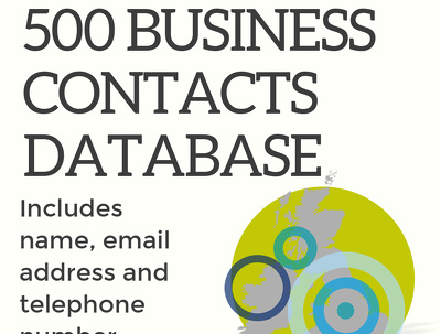 Create a database list of 500 business contacts in your niche