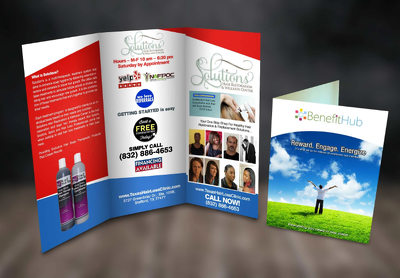Design 2 Pages Flyer, leaflet, poster, advertisement in 1day