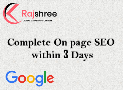 Provide complete on page SEO work