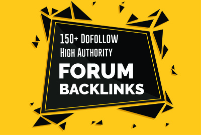 Manually 150 High Authority Dofollow Forum And Profile Backlinks