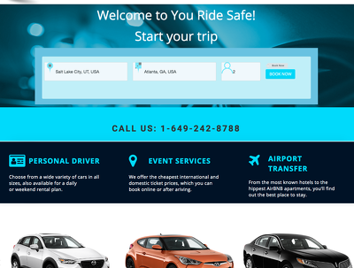 Develop website for car rentals of trip, tour