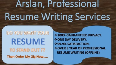 Provide Resume/C.V  Writing/Rewriting Services