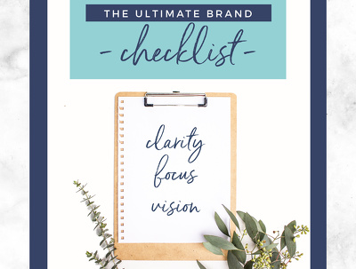 Give you my ultimate brand checklist