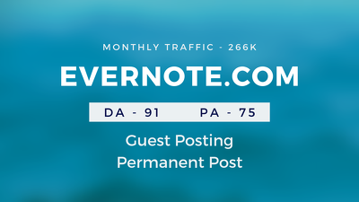 Publish Guestpost on EVERNOTE. COM