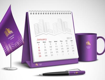 Design Your Company Calendar Print Ready
