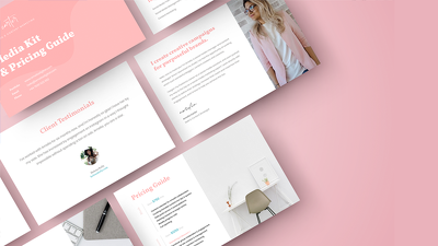 Stunning 8 Page PDF Brochure or Pitch Deck to Send Clients