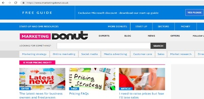 Publish a guest post on Marketingdonut.co.uk