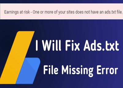 Fix adsense error ads.txt in your website