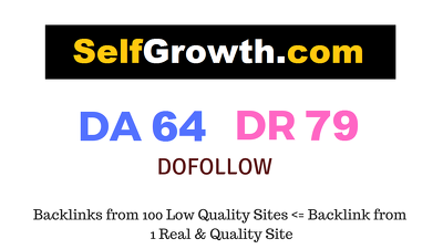 Publish Guest Post On Selfgrowth.com DA 64 DR 79
