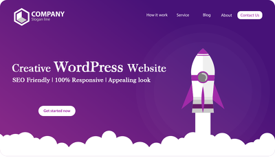 Create a responsive and stunning WordPress website for you