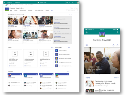 Office 365 SharePoint online best practice Intranet design idea