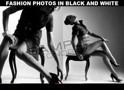 Fashion photos in black and white (20 photos)