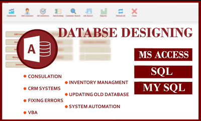 Do Your Database Project In Ms Access , SQL or MYSQL