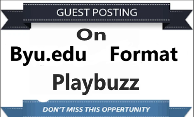 Only Publish 3 Guset Post On Byu,Format & Playbuzz with Backlink
